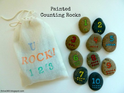 Painted counting rocks1