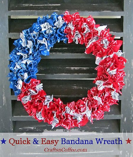 Easy patriotic wreath lesson plans for Americana crafts to make