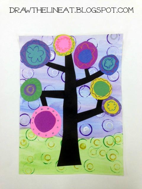 Classroom Rainbow Ideas ~ Kandinsky trees lesson plans