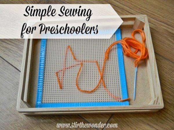 Simple Sewing for Preschoolers